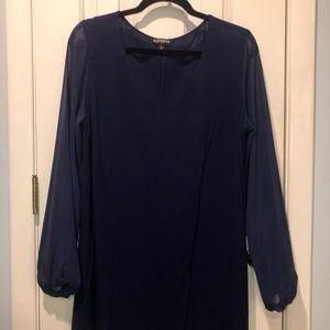 Express Dress Navy Blue Size M